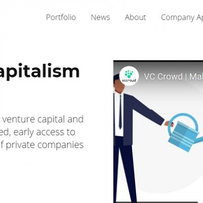 VC Crowd homepage